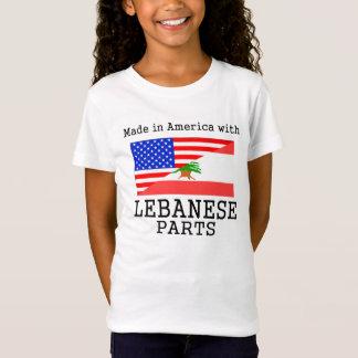 レバノンの部品が付いているアメリカで作られる Tシャツ