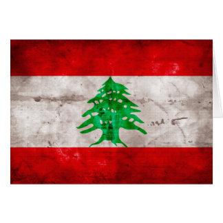 レバノンの風化させた旗 カード
