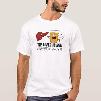 レバーは邪悪、罰されなければなりません Tシャツ
