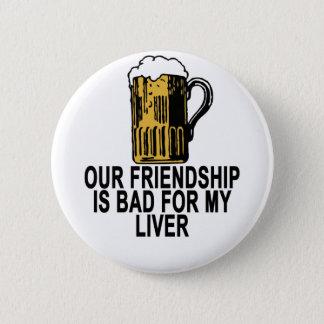 レバービールのための友情の悪い状態「 5.7CM 丸型バッジ