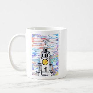 レバー建物の落書きのマグ コーヒーマグカップ