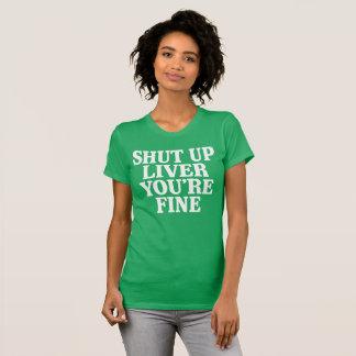レバー罰金をあなたは締めて下さい Tシャツ