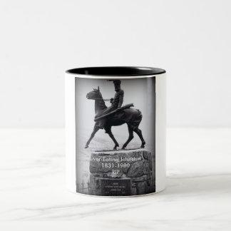 レバー食べ物のジョンソンのマグの記憶 ツートーンマグカップ