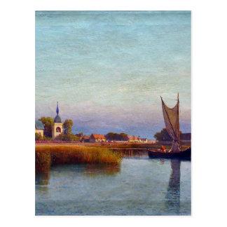 レフLagorioで川岸からの町の眺め ポストカード