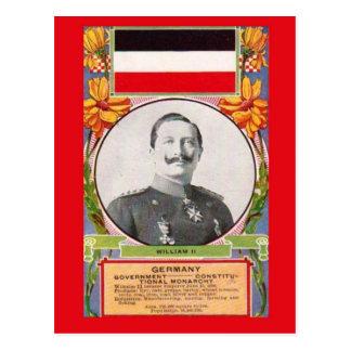 レプリカのヴィンテージの郵便はがき   Kaiser Wilhelm II ポストカード
