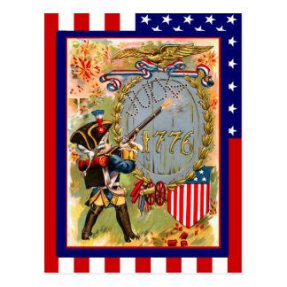 レプリカのヴィンテージユニフォーム7月第4、男の子の兵士の ポストカード