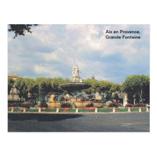レプリカのヴィンテージ、エクサンプロバンス、グランデFontaine ポストカード