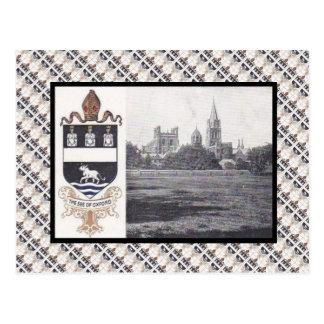 レプリカのヴィンテージ、オックスフォードのカテドラルおよびバッジ ポストカード