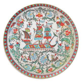 レプリカの民芸陶器のギリシャの高い船 プレート