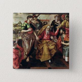 レベッカがアイザック1562年と結婚することができるを頼んでいるEliezer 5.1cm 正方形バッジ