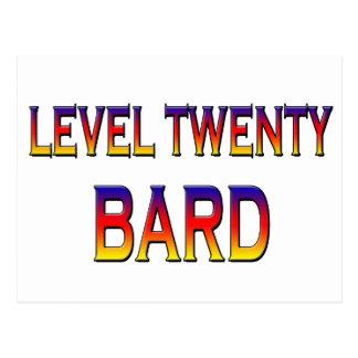 レベル20の楽師 ポストカード