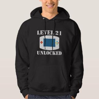レベル21はビデオゲームの第21誕生日の鍵を開けました パーカ