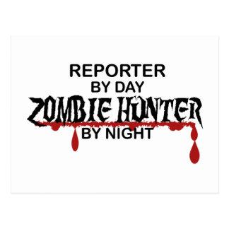 レポーターのゾンビのハンター ポストカード