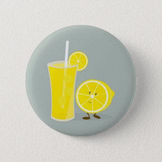 レモネードが付いている微笑レモン 缶バッジ