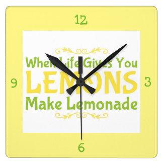 レモネードを作って下さい スクエア壁時計