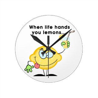 レモネードを作って下さい ラウンド壁時計