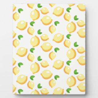 レモネード-甘く黄色いレモンプリント--を作って下さい フォトプラーク