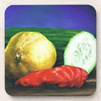 レモンおよびきゅうり コースター