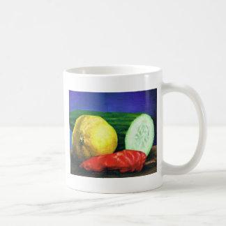 レモンおよびきゅうり コーヒーマグカップ
