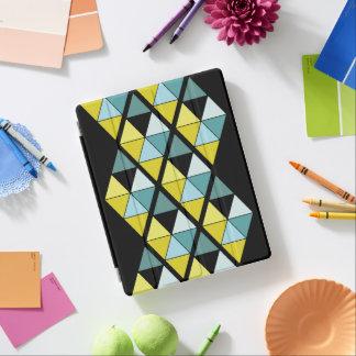 レモンおよびティール(緑がかった色)の三角形のiPadカバー iPadスマートカバー