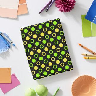 レモンおよびライムのリングおよび水玉模様 iPadスマートカバー