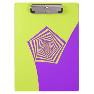 レモンおよび薄紫螺線形の米国国防総省 クリップボード