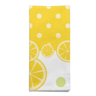 レモンおよび黄色い水玉模様 ナプキンクロス