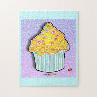 レモンによって曇らされるカップケーキのパズル ジグソーパズル