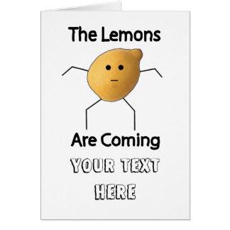レモンは来ています! グリーティングカード