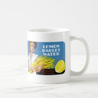 レモンオオムギ水ラベル コーヒーマグカップ