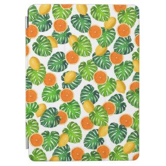 レモンオレンジのmonsteraの白 iPad air カバー