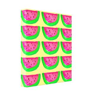 レモンキャンバスのポップアートのピンクのスイカ キャンバスプリント