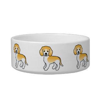 レモンコートの漫画のビーグル犬の品種犬 ボウル
