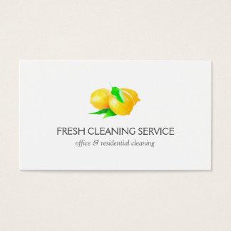 レモンデザインのクリーニングのサービス業カード 名刺