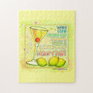 レモンドロップのマルティーニのパズルまたはパズルのギフトの錫 ジグソーパズル