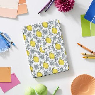 レモンパターンカスタムなモノグラム装置カバー iPad AIR カバー