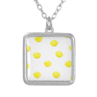 レモンパターンバージョン2 シルバープレートネックレス