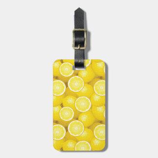 レモンパターン2 ラゲッジタグ
