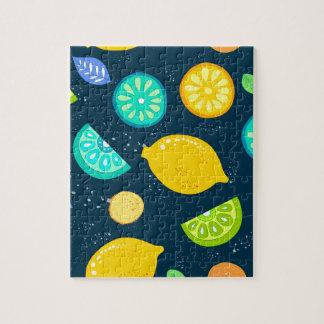 レモンパターン ジグソーパズル