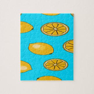 レモンフルーツパターン ジグソーパズル
