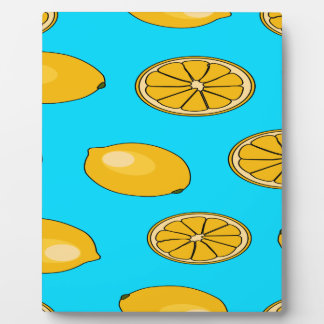 レモンフルーツパターン フォトプラーク