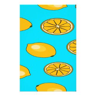 レモンフルーツパターン 便箋