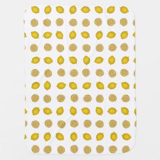 レモンプリント ベビー ブランケット