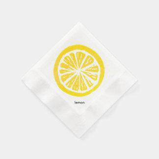 レモンペーパーカクテルのナプキン 縁ありカクテルナプキン