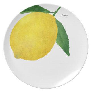 レモンメラミンプレートの黄色か緑 プレート