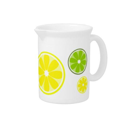 レモンライムの水差し 飲み物ピッチャー