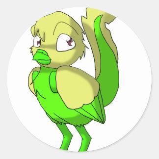 レモンライムのReptilianの鳥 ラウンドシール