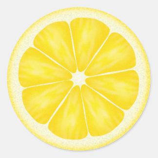レモン切れのステッカー ラウンドシール