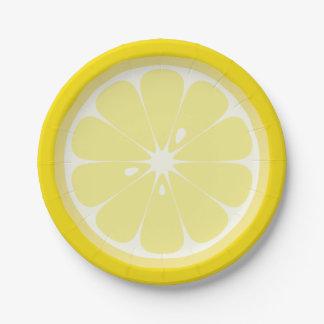 レモン切れ ペーパープレート