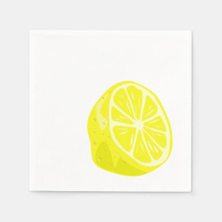 レモン半分のカクテルのナプキン スタンダードカクテルナプキン